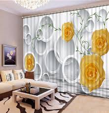 Yellow Curtains For Living Room Bamboo Window Curtains Promotion Shop For Promotional Bamboo