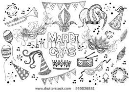 black and white mardi gras masks mardi gras shrove tuesday black white stock vector 569036881