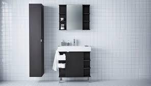 Black Mirror Bathroom Cabinet Lillången Ikea
