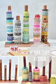 washi tape diy diy handy washi tape holder twine ribbon holder pillar box blue