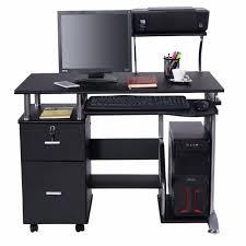 Laptop Desk With Printer Shelf Goplus Computer Desk Pc Laptop Table Workstation Home Office
