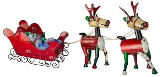 reindeer and sled set think outside