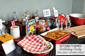 Birthday Decoration Ideas At Home For Husband 40 Bites Kitchen Themed Birthday Party