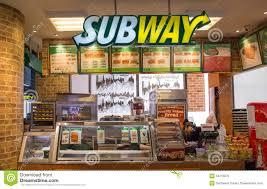 Exterior View Exterior View Of Subway Restaurant Editorial Stock Photo Image