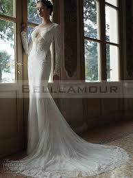 robe de mariã e manche longue dentelle de mariée longue dentelle dos nu manche longue taîne chapelle