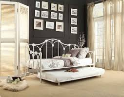 Daybeds With Trundles Total Fab White Metal Frame Daybed With Trundle Roll Out U0026 Pop
