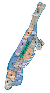 manhattan on map map of nyc 5 boroughs neighborhoods