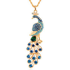 fashion chain necklace images 18k gold plated peacock pendant necklace women 39 s jpg