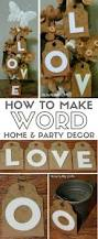 how to make beautiful word home decor or party decor
