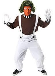 Oompa Loompa Halloween Costumes Green Chocolate Factory Worker Wig Ideal Umpa Lumpa Oompa