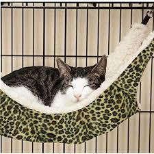 pecute cat kitten hanging hammock bed pad pet cat cage comforter