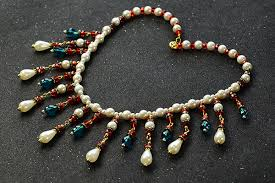 drop beads necklace images How to make elegant drop glass and pearl beads bib necklace jpg