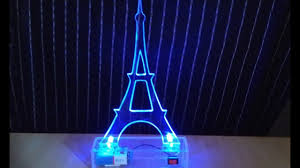 Eiffel Towers For Decoration How To Make A Luminous Eiffel Tower For Home Decoration Youtube