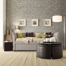 stunning upholstered daybed with pop up trundle pictures