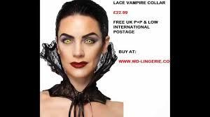 vampire collar black lace collar perfect fancy dress accessory