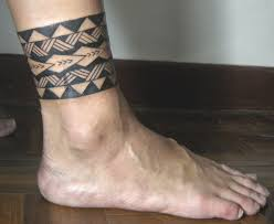 male foot tattoos small tribal pattern guys ankle band tattoos tattoos pinterest