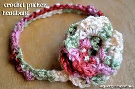 how to make a baby headband crochet pucker baby headband free crochet pattern my merry