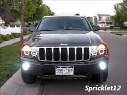 jeep commander black headlights jeep wk spyder lights before after
