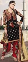 chic upper jacket style new patiala salwar suits for young girls