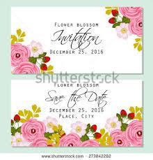 invitation greeting flower blossom botanical invitation greeting stock vector