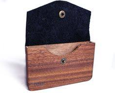 Business Card Case For Women Cocobolo With Lapis Inlay Left Ebony On The Right Business Card
