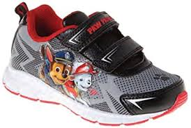 paw patrol light up sneakers paw patrol nickelodeon boy s light up shoes 10 m us gray