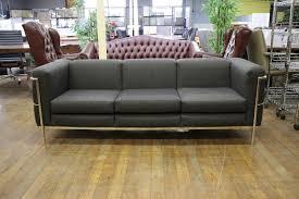 Furniture Jack Cartwright Furniture Home by Jack Cartwright U0027123 U0027 Black Fabric U0026 Chrome 3 Seat Sofas