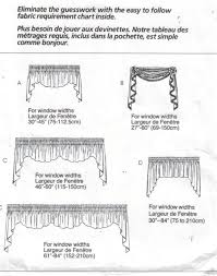 Patterns For Curtain Valances Mccalls Pattern 3089 Home Dec In A Sec Curtain Valances Sewing