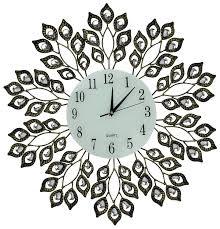 amazon com lulu decor decorative leaf metal wall clock glass