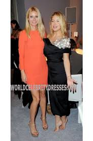 gwyneth paltrow orange short long sleeves dresses country strong