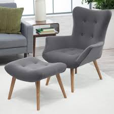 Oversized Chair With Ottoman Miraculous Large Chair And Ottoman Set In Grey Tufted