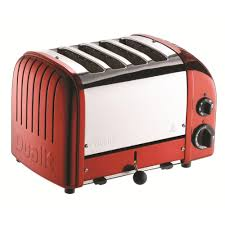 dualit 4 slice apple candy red toaster 47171 the home depot