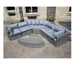 Rounded Corner Sofas Paradise Luxury Grey Rattan Rounded Corner Sofa Set Outdoor Garden