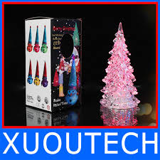 automatic seven color changing unbreakable glass tree