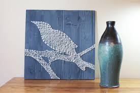 housewarming gift raven bird on branch string art designs diy home
