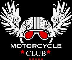 motorcycle club logo classical ornament helmet wings icons free
