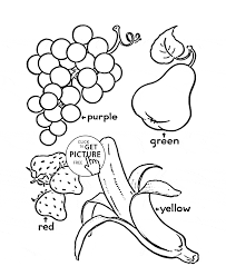coloring page fruits coloring pages funny coloring
