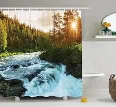Artistic Bathroom Appearance Amazon Com Mystical Magical Tree Anime Moon Fabric Shower Curtain