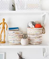 Storage Home by Diy Rag Rug Storage Baskets Sugar U0026 Cloth Diy Home Decor