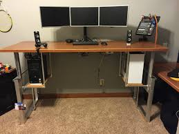 sit stand computer desk diy sit stand computer desk creative desk decoration