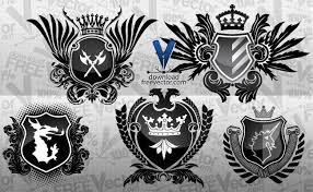 heraldry vector coat of arm free vector
