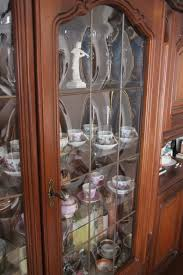 Wohnzimmerschrank F Kleidung Schrankwand Nussbaum Rustikal 270x220cm Glas Vitrine Wohnwand