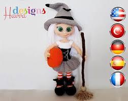 amigurumi witch pattern crochet pattern cute witch amigurumi doll amigurumi witches