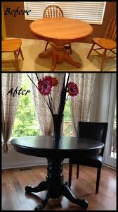 Black Dining Room Table And Chairs by Kitchen Table Redo Transforms The Whole Space How Cool Is That