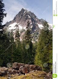 Rugged Mountain Range Rugged Jagged Peak North Cascade Mountain Range Vertical Composi