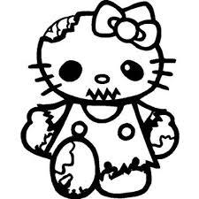 kitty zombie walking dead vinyl sticker wall car