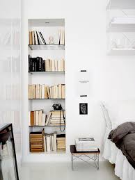 a clean monochromatic apartment in helsinki