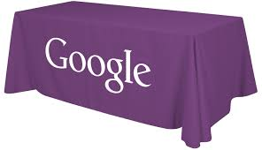 Logo Table Cloth by 6ft Table Throw With 1 Color Logo Imprinted Table Covers