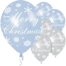 snowflake balloons merry christmas blue silver snowflake balloons 11 6pk