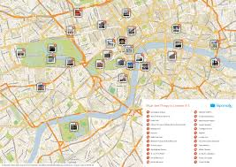Printable Maps Of Europe by Printable London Tourist Map Showing Top Sights And Attractions